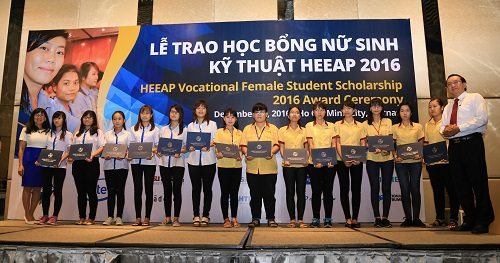 Scholarships Award Ceremony for Engineering Female Students– HEEAP 2016